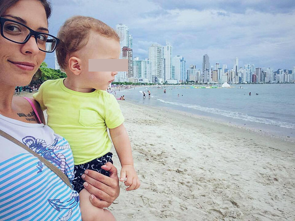 Дарья с сыном Бруно