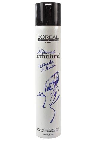 L'Oreal Professionnel Лак для волос сильной фиксации Mademoiselle Infinium, 800 руб.