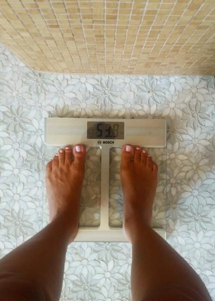 Журналистка продолжает избавляться от лишнего веса