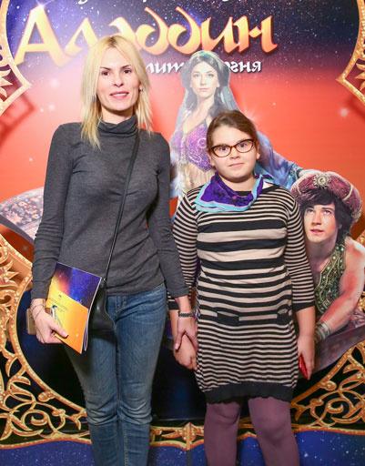 Бывшая жена Марата Башаров Лиза Круцко и его дочь Амели