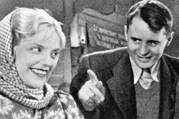 Ладынина с мужем Иваном Пырьевым на съемках фильма «Свинарка и пастух»