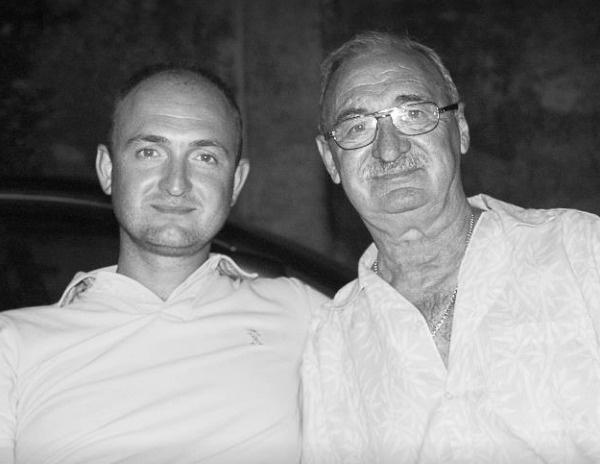 Вадим Логофет с отцом, известным игроком «Спартака» Геннадием Логофетом