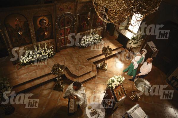 Крестины прошли в старинном храме в селе Успенское