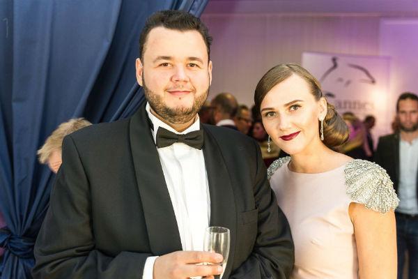 Евгений с супругой