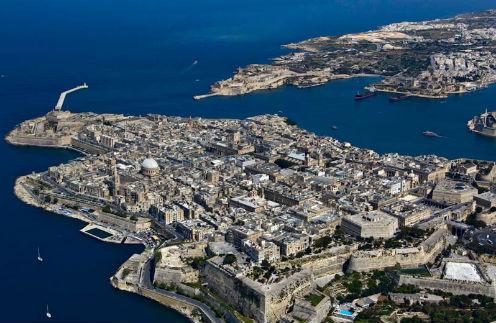 Мальта, вид сверху