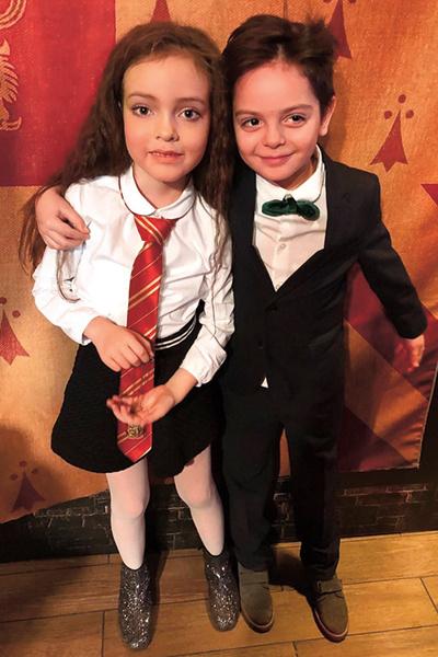 С дочерью Филиппа Киркорова Аллой-Викторией на праздновании ее дня рождения