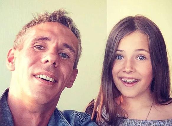 Панин с дочерью Нюсей