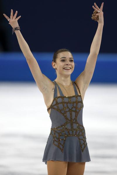 Фигуристка выиграла золото на Олимпиаде в Сочи