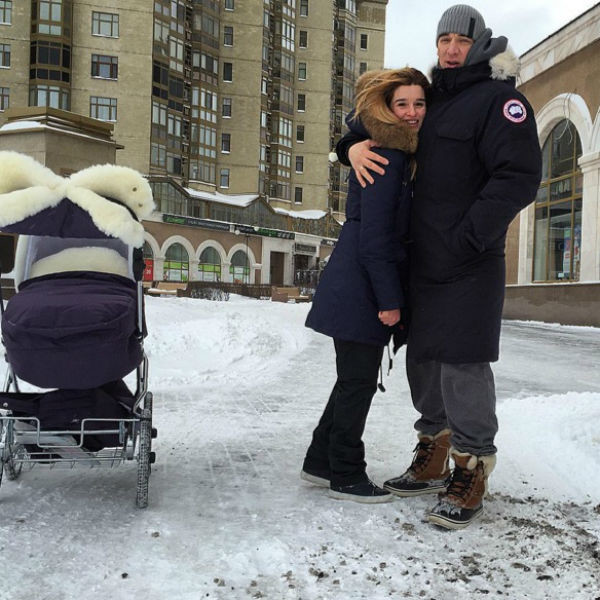 Ксения Бородина с мужем и дочкой