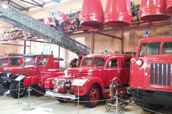 Музей гордится пожарной техникой разных времен