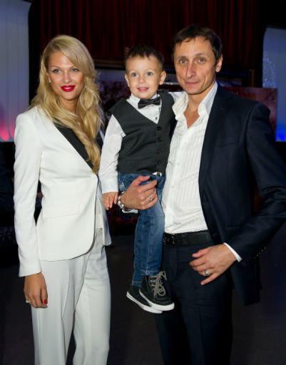 Вадим Галыгин с супругой Ольгой и сыном Вадимом