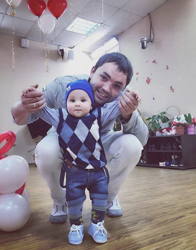 Саша с сыном Робертом