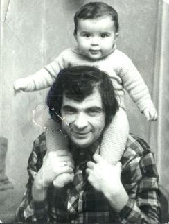 С годовалым Денисом, 1976 год