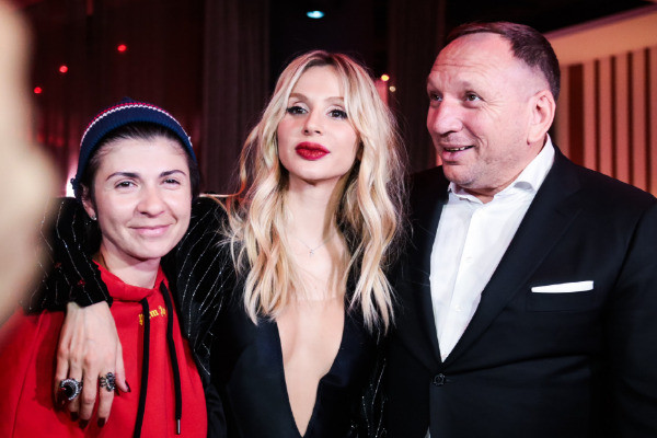 Светлана Лобода, продюсер Нателла Крапивина, Сергей Балдин на афтепати