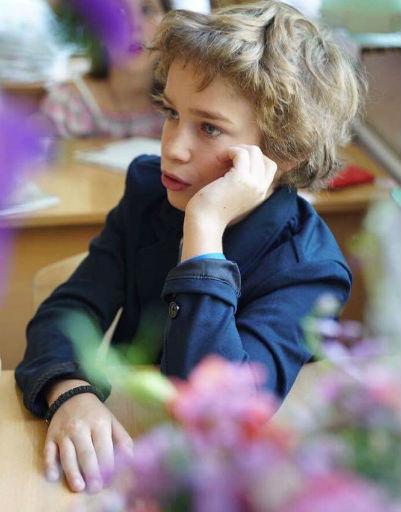 Старший сын Тутты Ларсен Лука пошел в шестой класс