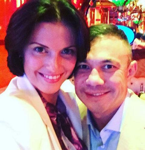Костя Цзю и его жена Татьяна