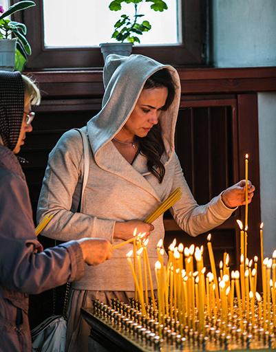 Мария Берсенева в храме