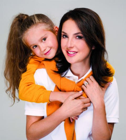 Ирина Слуцкая с дочерью Варей
