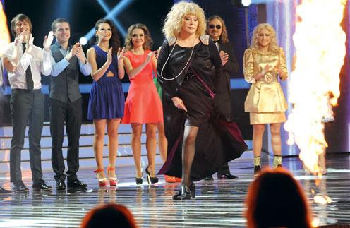 Алла Пугачева на съемках третьего сезона «Фактора А»
