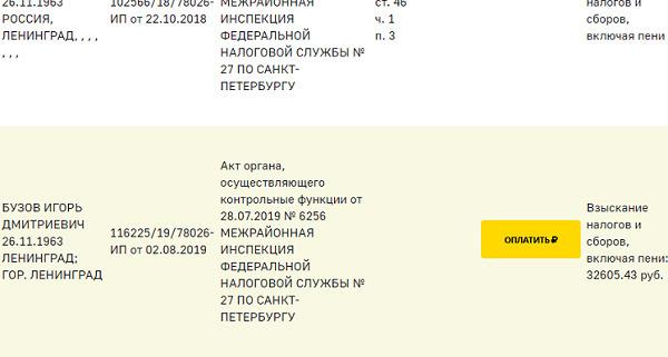 На отце Оли Бузовой «висят» три дела. По одному из них он задолжал 32 тысячи рублей, по двум другим — три тысячи