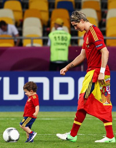 Фернандо Торрес с сыном