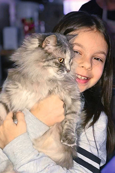Кошку Лиду спасли от смерти три года назад