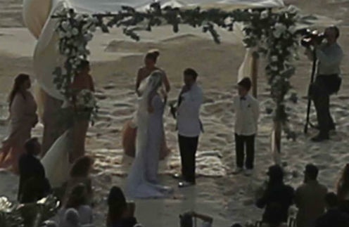 Джонни Депп и Эмбер Херд обменялись клятвами на берегу океана