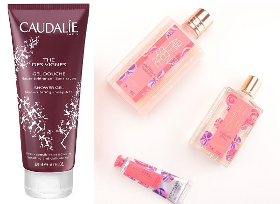 Caudalie Гель для душа The des vignes, L`Occitane Крем для душа ARLESIENNE