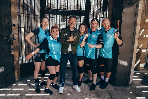 С командой на съемках шоу «Форт Боярд»