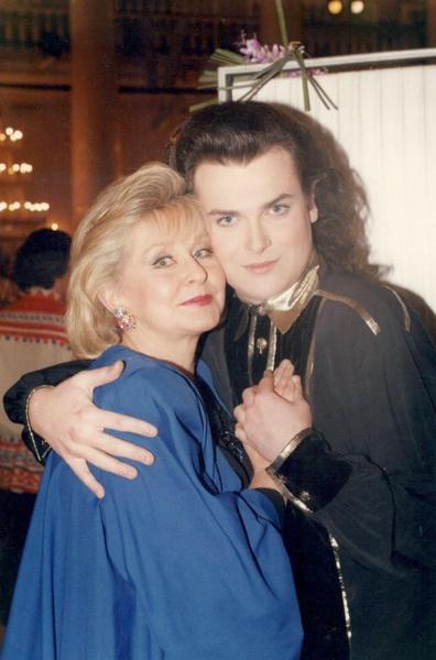 Ангелина Вовк и Юлиан (фото 1993 года)