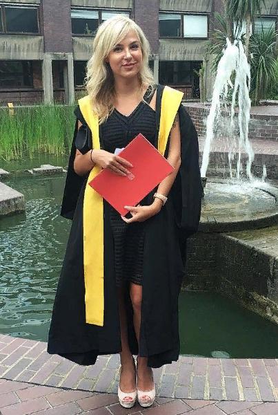 В 2016-ом Ирина окончила Королевский колледж Лондона