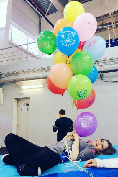 Спортсменка празднует день рождения