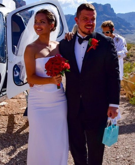 Свадьба Регины и Дмитрия прошла на живописном Гранд-Каньоне