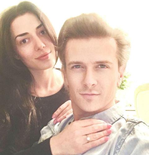 Глеб Матвейчук с невестой Еленой Глазковой