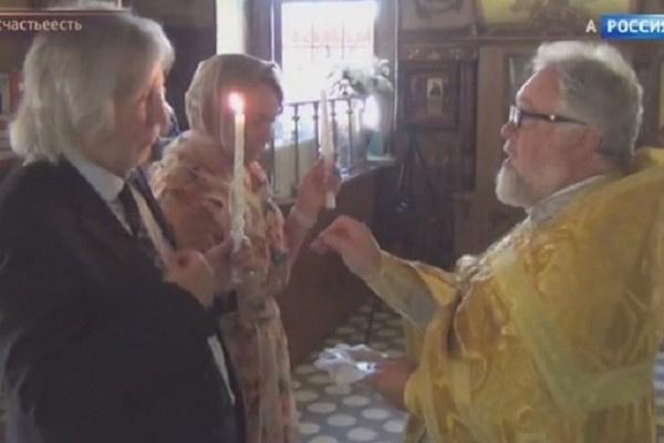 Вячеслав Малежик обвенчался спустя 43 года в браке