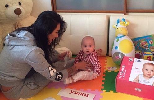 Мишаня занимается с Тамерланом с трех месяцев
