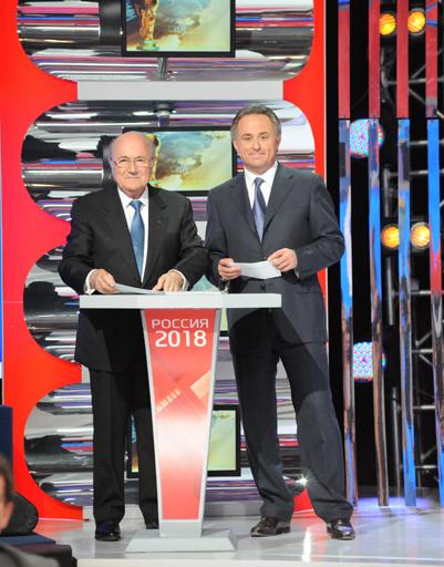 Президент ФИФА Йозеф Блаттер и министр спорта РФ Виталий Мутко