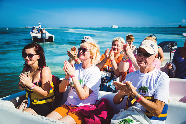 На катамаране мы пересекли Карибское море и попали в Атлантический океан