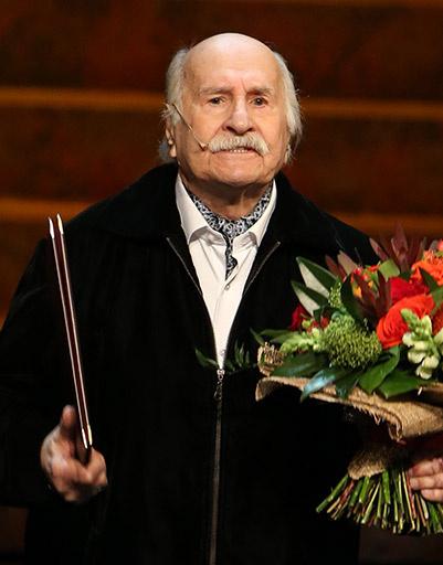 Актер Владимир Зельдин на творческом вечере в Центральном академическом театре Российской армии