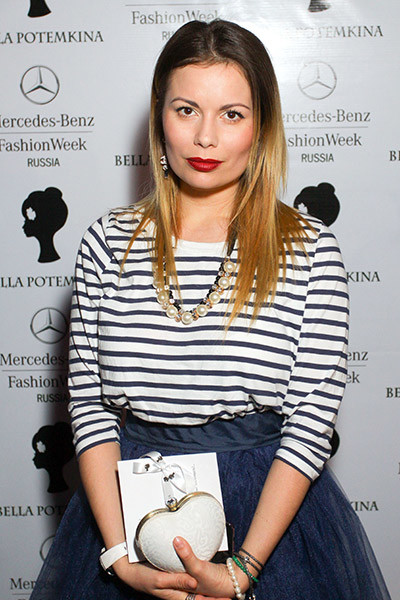 Певица на показе Bella Potemkina. 31 марта, Москва