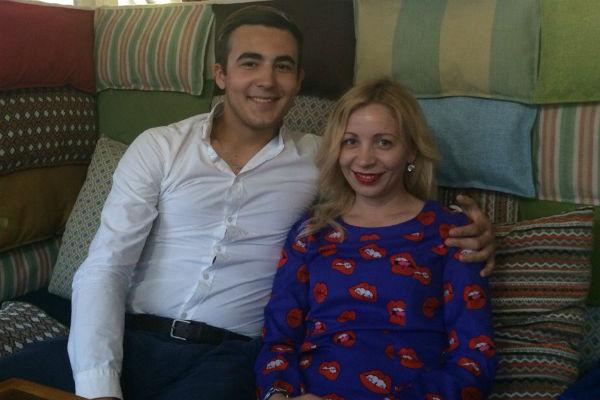 Олеся вместе с супругом