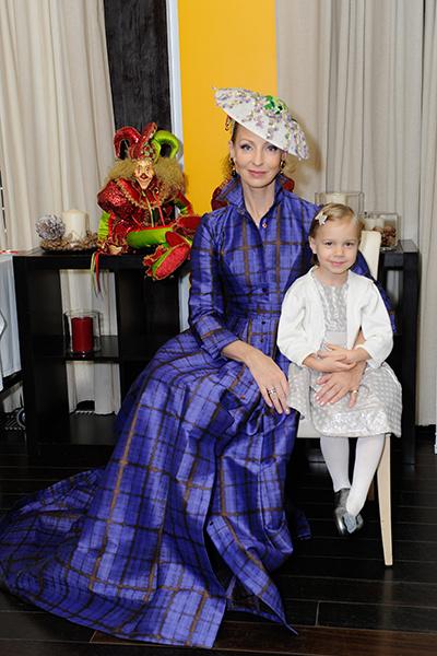 Илзе Лиепа с дочкой Надеждой