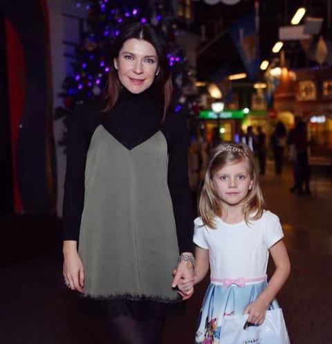 Екатерина Волкова с дочерью