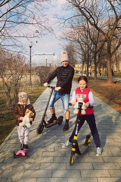 Витас с дочерью Аллой и сыном Максимом