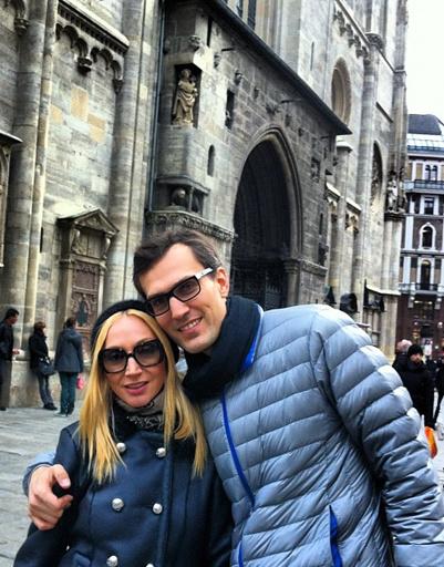 Чтобы доказать всем, что они с Михаилом по-прежнему вместе, Кристина разместила этот снимок, сделанный на отдыхе в  Вене