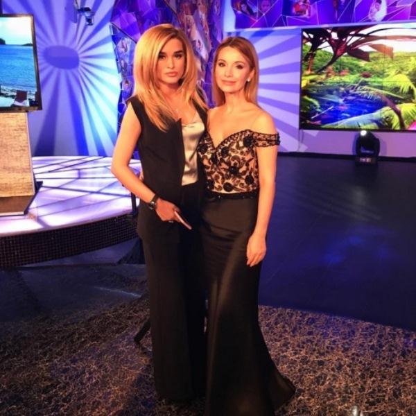 Ксения Бородина и Ольга Орлова на съемках «Дома-2»