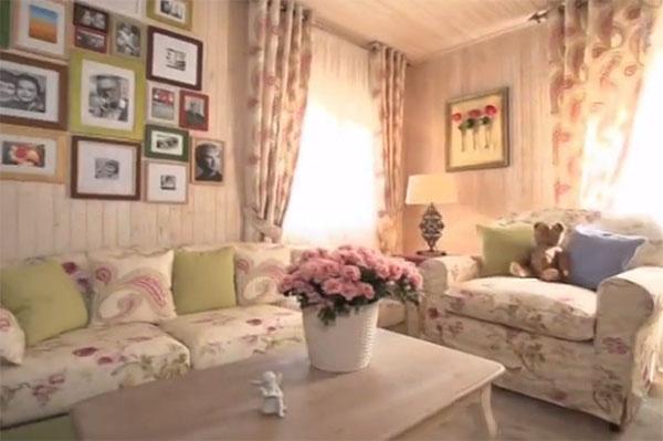 Два года назад гостиную на даче Нины Гребешковой оформили в стиле прованс