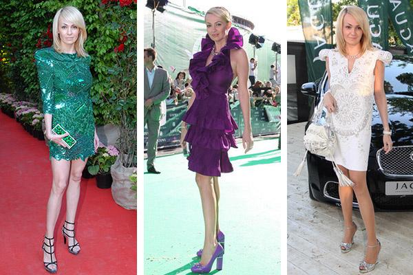 Яна Рудковская отлично чувствует тенденции, всегда появляется только в ультрамодных нарядах