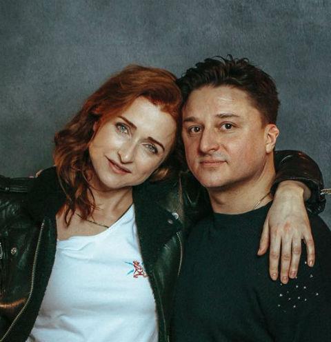 Максим Лагашкин с женой