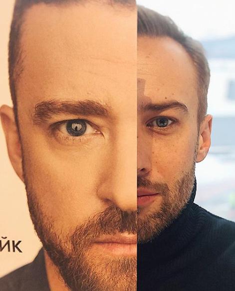 Многие уверены: у Дмитрия и Тимберлейка нет ничего общего во внешности